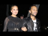 February 4, 2016 - John Legend And Pregnant Chrissy Teigen Attending Nine Zero One Salon Opening