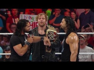 Dean Ambrose celebrates his WWE World Heavyweight Championship victory_ Raw, June 20, 2016