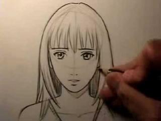 Уроки рисования. Рисуем лицо девочки.