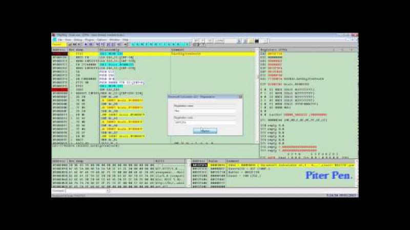 Взлом программ в OllyDbg Lesson8 часть 2 ищем серийник для своего имени