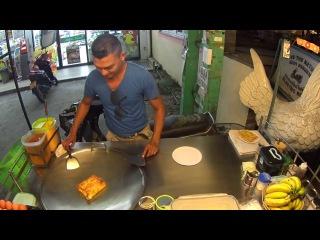 Thai street food, Thai kitchen, dessert, Cake, pancakes, roti - How to cook?