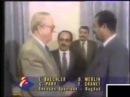 Saddam Hussein reçoit Jean Marie Le Pen