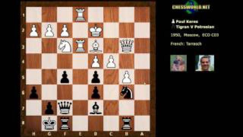 Evolution of Chess Style 180: Keres vs Petrosian : USSR (1950) - Petrosian the attacker!
