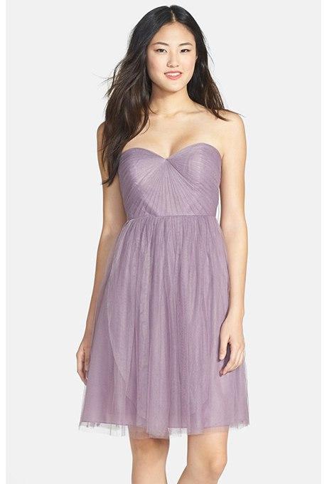 AujzNmOfrWo - Прекрасные платья цвета лаванды для подружек невесты на каждый сезон