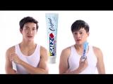 Пуш в рекламе зубной пасты SALZ.