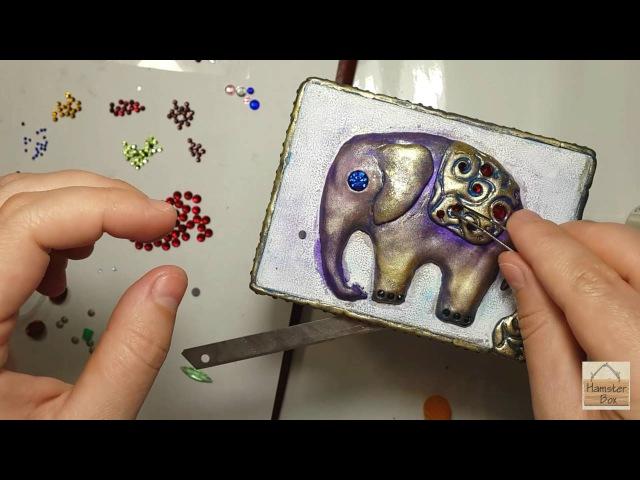 Magic Elephant Часть1 полимерная глина стразы тест