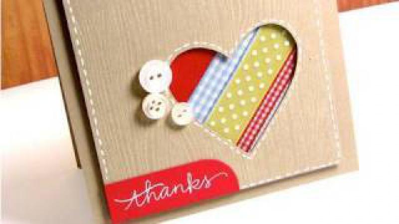 Thanks (Ribbon Scraps) - Make a Card Monday 118