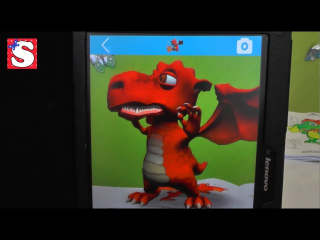 Живые 3D раскраски DEVAR KIDS NEW! Живой ДРАКОН! Live 3D coloring DEVAR KIDS NEW!Live DRAGON!