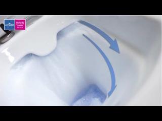 Безободковые унитазы (подвесные и напольные) Cersanit с технологией CleanOn