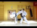 Techniki Taekwondo ITF Bandae Dollyo Chagi Spinning Wheel Kick, Kopnięcie po obrocie