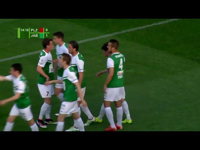 Ruslan Mingazov goal 15' (Viktoria Plzeň vs Jablonec)