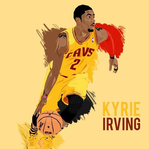 Kyrie Irving cartoon