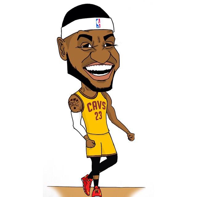 Лучший игрок НБА карикатура