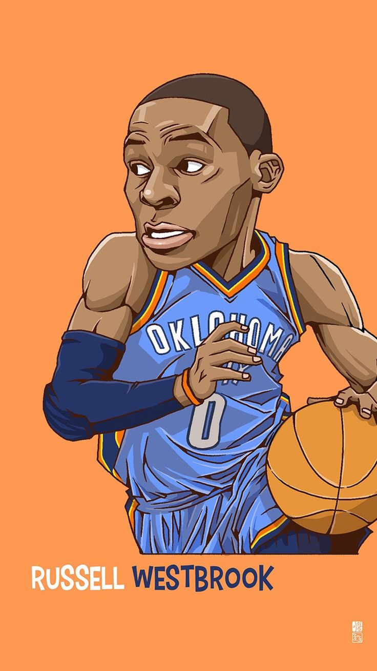 Russell Westbrook карикатура