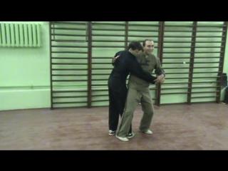 Бекетов В А !!!!!!Бросок выглаживающий под дальнюю ногу спереди Шоу Дао  УНИБОС  Санкт Петербург1