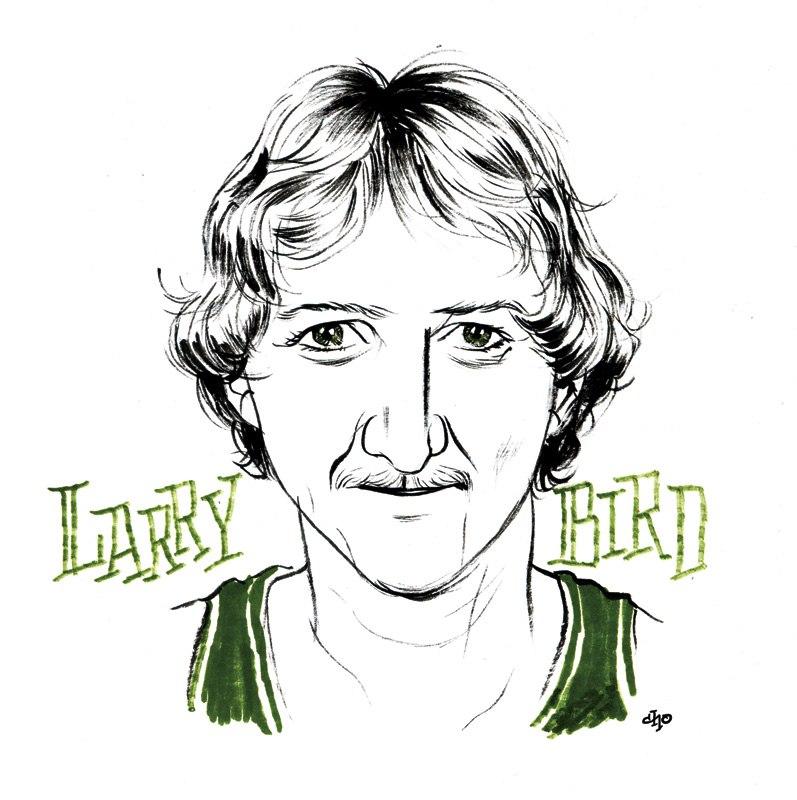 Larry Bird cartoon