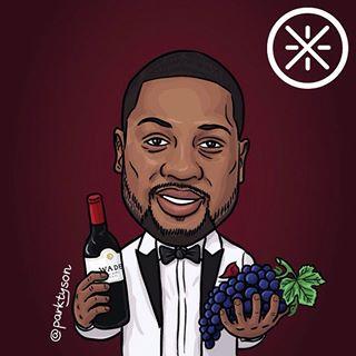Уэйд с виноградом карикатура