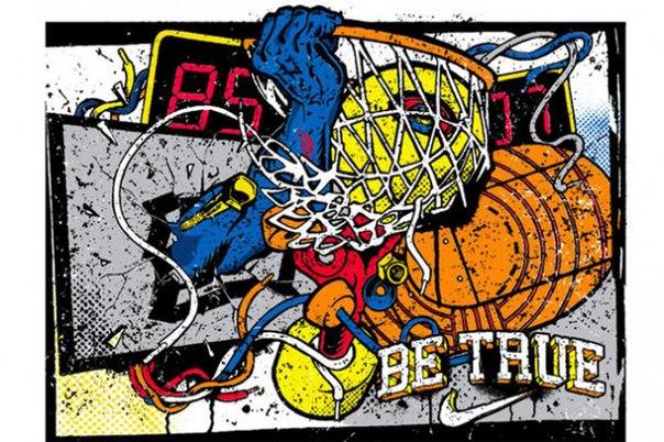 Баскетбольное кольцо и мяч