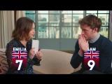 Эмилия Кларк и Сэм Клафлин играют в игру « Кто больше британец?»