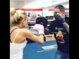 "Boxing Floyd Canelo GGG Manny on Instagram: ""Nothing better than a girl who loves boxing. Check out @princesspiamia work the mitts.  #boxing #fight #usa #hbo #showetime #hardwork #espn…"""