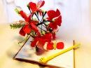 Cách làm hoa Phượng vĩ bằng giấy nhún DIY Mohur tree Flamboyant by Dzung Mac