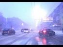 Новосибирск Снежная гроза с громом и молниями