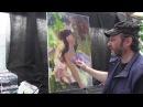 Игорь Сахаров портрет женский в стиле импрессионизм 1ч пленэр этюд живопись для начинающих