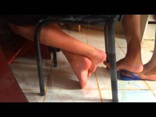 My 12 yo cousins's  boy feet!