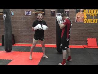Джабар Аскеров. Тайский бокс. Ударная комбинация. Muay Thai.