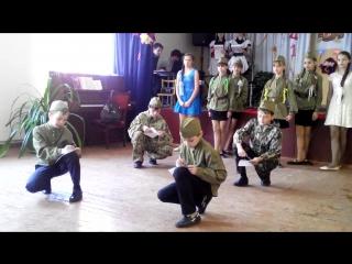 Инсценировка военно-патриотической песни Вальс Победы 6-А класс А закаты алые