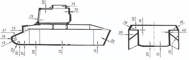 Схема бронирования танка Matilda.