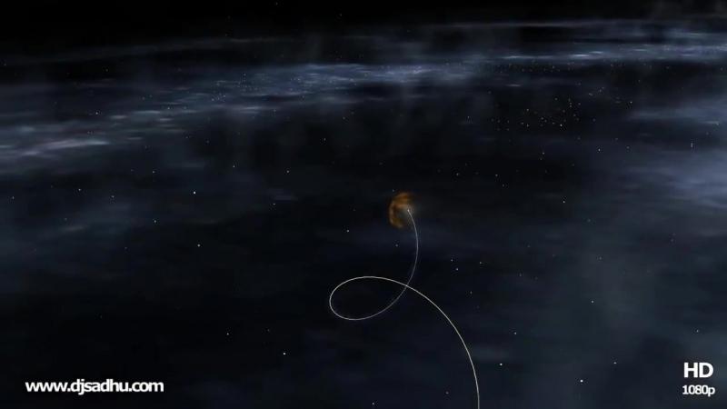 Спиралевидное движение солнечной системы внутри Млечного Пути.
