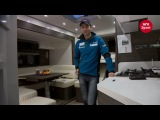 Уле Эйнар Бьорндален показывает свой супер-трейлер - грузовик, который одновременно и дом, и тренировочный центр на колесах