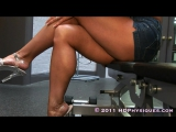 girls muscle legs