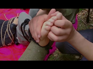 One Foot Tickle Torture in Forest