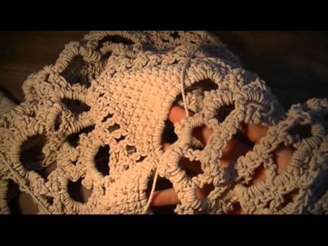 Как связать крючком ковёр