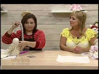 Boneca de pano peso de porta com Katia Kowas- Vitrine do Artesanato na TV
