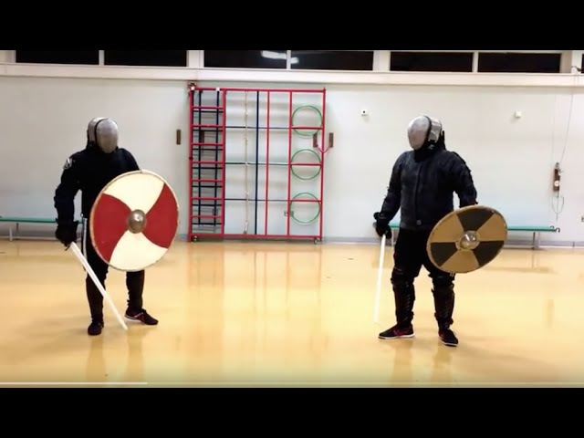 Sword and Shield sparring Nick vs Mike