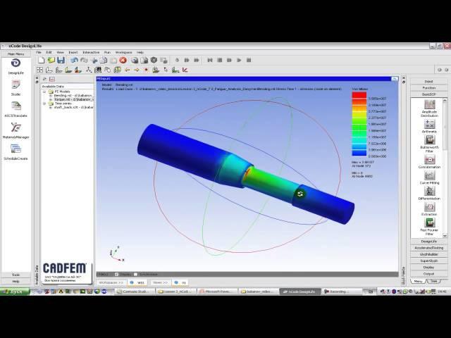 Видеоурок CADFEM VL1103 - Анализ усталостной долговечности деталей в ANSYS nCode DesignLife ч.2