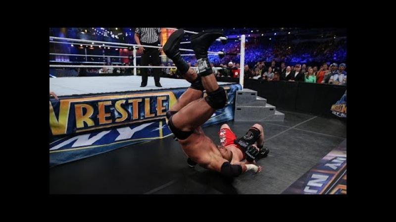 Brock Lesnar takes Triple H to Suplex City Slow Mo Replay from WrestleMania 29