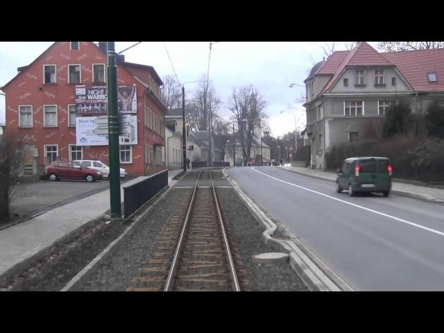 Liberec - Jablonec Interurban Tramway Ride. На трамвае из Либерца в Яблонец, 03.02.2016