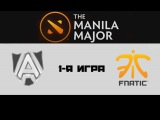 Alliance vs Fnatic #1 (bo3) | The Manila Major, LB, 04.06.16
