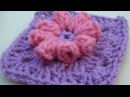 Popcorn Flower Granny Square Crochet Tutorial