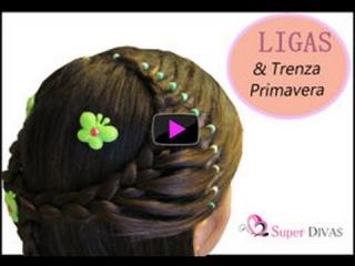 Peinados Faciles - Diadema de Trenza y Ligas