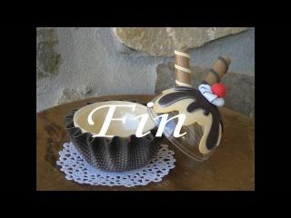 tutorial portachuches cup-cake