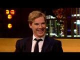 Benedict Cumberbatch impersonates Alan Rickman, David Tennant, and Jonathan Ross.
