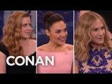 Amy Adams' Girl Crush On Holly Hunter &amp Gal Gadot - CONAN on TBS