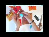 DIY: Новогодние поделки/ Олени из бумаги/ Гирлянда из оригами