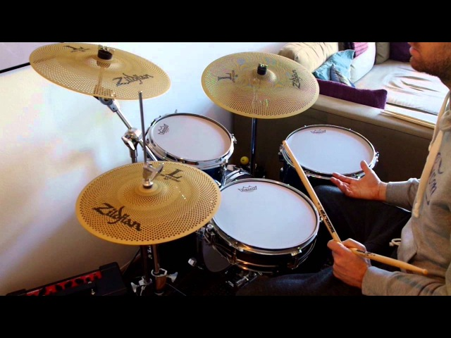 Zildjian Low volume L80 and Remo silent stroke review on Tama Metro Jam
