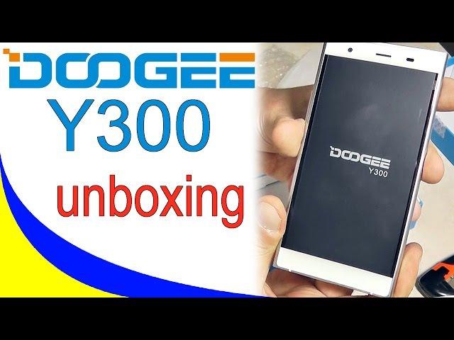 DOOGEE Y300 4G смартфон на Android 6.0 Распаковка